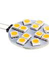 G4 6W 12x5050SMD 2800-3500K теплый белый свет Светодиодные пятно лампы (DC 12)
