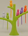 творческий птица на дереве плодов frok (случайный цвет)