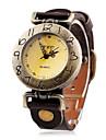 Mulheres Vintage Número Header PU banda quartzo analógico relógio de pulso (cores sortidas)