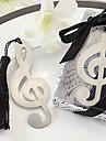 мило полый музыку к сведению с кистями 8,8 * 3,6 * 1 металлические закладкам& клипы (серебро, 1шт)