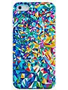 Colorful quebrado Caso Espelho plástico de volta para o iPhone 4/4S