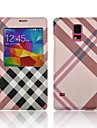 S5-Grid  Ultra-thin Leather Case For Samsung Galaxy S5/i9600