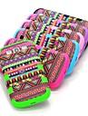 Rouge aztèque tribal dur hybride de cas résistant aux chocs baisse couverture entière pour Samsung i9300 Galaxy S3