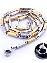 Персональный подарок золото и серебро ювелирные изделия нержавеющей стали Гравировка цепи ожерелье 0.3cm Ширина
