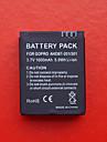 Batterie de Rechange pour Caméra GoPro (1050mAH, Noir)