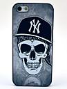 Футляр Black Hat череп шаблон для iPhone 5/5S