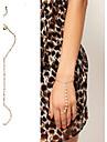 여성 체인 & 링크 팔찌 반지 팔찌 유니크 디자인 패션 펄 모조 진주 보석류 골든 보석류 용 파티 일상 캐쥬얼 1PC