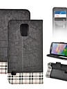 S5-Grid Angibabe Leather Case for Samsung Galaxy S5/i9600