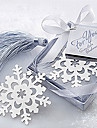 Bonito ocas floco de neve com borlas 6.5 * 6.5 * 1 Metal Bookmarks & Clips (Prata, 1pc)