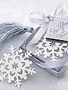 Симпатичные Полые Снежинка с кистями 6,5 * 6,5 * 1 Металлические закладки и Клипы (серебро, 1шт)