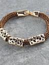 Miss ROSE®Punk Style Coffee Hand-woven Bracelet