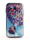 Cas Motif de ballon coloré PVC arrière pour Samsung Galaxy Ace S7272 3