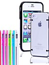 Thin Transparent Glow in Dark Crystal Clear Hard TPU Case for iPhone 4/4S (Assorted Colors)