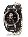 Élégant à clapet ronde hommes cadran de bande de silicone montre bracelet à quartz analogique (couleurs assorties)