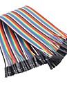 mulher a fita cor feminina flat cable ponte DuPont 1p-1p 2,54 milímetros para (para arduino) (20cm) 40 fios