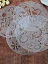 4 шт / комплект пластиковой спрей цветок торт плесень 20см * 20см * 0.025cm