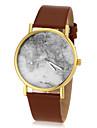 Carte du monde Patron des hommes cadran rond PU bande de montre bracelet à quartz analogique (couleurs assorties)