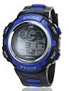 мужской календарь случайный ЖК круглый циферблат резинкой цифровые часы спорта