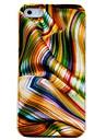 Caso PC Padrão Fita Dourada para iPhone 4/4S