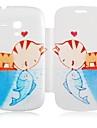 Cat&Fish Kiss Pattern Leather Full Body Case for Samsung Galaxy S3 Mini I8190