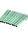 10 peças embaladas Clip sobre verde Stylus Pen Touch Screen para iPad e Outros