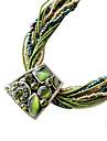 мода богемный стиль (трапеция кулон) зеленый заявление ткани ожерелье (1 шт)