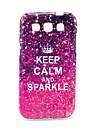 Keep Calm and Sparkle Pattern Soft Case for Samsung Galaxy Win I8552