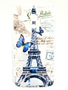 For LG Case Pattern Case Back Cover Case Eiffel Tower Hard TPU LG