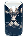 Sunglass Pattern Cat Hard Case para Samsung Galaxy Tendência Duos S7562