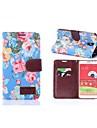 Pattern Flower Capa de Couro de corpo inteiro com slot para cartão para Samsung Galaxy Note 3 Lite N750 / Neo N7505