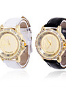 Women's Golden Dial Analog Quartz Leather Band Wrist Watch
