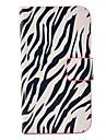 Зебра-полосой шаблон PU кожаный чехол с магнитной застежкой и слот для карт Samsung Galaxy S3 мини I8190