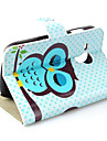 Sleepy Owl Style Pattern PU Leather Case  for Samsung Galaxy Mini S3 S3mini I8190