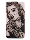 Футляр Мэрилин Монро татуировки ПК для iPhone 4/4S