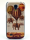 Fire Balloon Elephant Pattern Hard Back Cover Case for Samsung Galaxy S4 Mini I9190