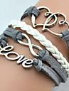 Мисс rose®fashion домашнее форма сердца любовь 20см сплава браслет обруча женщин (1 шт) вдохновляющие браслеты