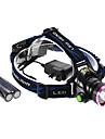 Налобные фонари LED 3 Режим 1200 Люмен Водонепроницаемый / Перезаряжаемый / самооборона Cree XM-L2 T6 18650 Многофункциональный - Прочее