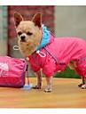 Новая мода из ПВХ с двойным толщиной сетки с четырьмя ногами ветрозащитный Rraincoat для домашних собак (ассорти Размер, разных цветов)