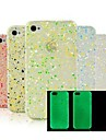Glow in The Snow Flake escuro Hard Case para iPhone 4/4S (cor aleatória)