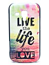 Live and Life of Pattern Mar Hard Case para Samsung Galaxy Tendência Duos S7562