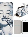 Sexy Goddess Pattern Clamshell PU Leather Full Body Case with Card Slot for iPhone 5/5S