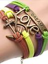 shixin® Европейский якорные 18см женщин многоцветной кожаный браслет обруча (1 шт)