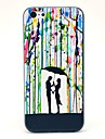 The Raining Lover Pattern Hard Case for iPhone 5C