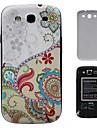 Красочные цветы ПК Hard Cover задняя сторона обложки батареи Корпус для Samsung Galaxy S3 i9300