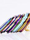 12PCS 12-Color Striping Tape Line Nail Stripe Tape Nail Art Decoration Sticker
