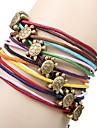 Vintage Turtle 20cm Women's Multicolor Leather Wrap Bracelet(Multicolor)(1 Pc)