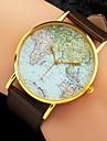 Женские Модные часы Наручные часы Кварцевый World Map Pattern PU Группа Черный Белый Коричневый