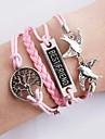 Bracelets meilleur ami Bannières Oiseaux Infinity Bracelet multicouche Charm Bracelets en cuir