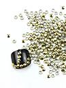300PCS 3D Golden Округлость сплава Nail Art Золотые и Серебряные украшения