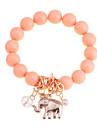 lureme®alloy elefante pingente pulseira talão conneceted (cores sortidas)